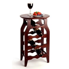 Wine Bottle Rack and Serving Table